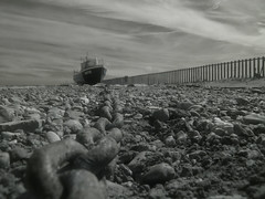 Beached (4foot2) Tags: sky beach seaside stones low olympus pebbles chain infrared hastings seafront fishingboat olympusc5060 c5060 highpass 2015 infraredfilter lowpass highpassfilter digitalinfraredphotography leadinlines r760 lowpassfilter 4foot2 4foot2flickr 4foot2photostream fourfoottwo