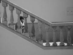 Escaleras (Parroquia de la Veracruz) (Daniel Marfil Vara) Tags: blancoynegro stairs angle escaleras angulo monocromtico fernannuez parroquiadelaveracruz