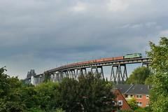 P2060798 (Lumixfan68) Tags: eisenbahn 232 ludmilla züge loks sbw baureihe eisenbahnhochbrücke güterzüge rendsburger dieselloks sechsachser