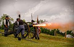 Fire! (Michael Kline) Tags: fire vineyard war smoke september civil va cannon fincastle