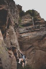 mountain climbing in brazil (fcam) Tags: brazil mountain sports up sport rock fog brasil canon landscape 50mm climb saopaulo cloudy mountainclimbing climbing climber esporte morro montanha escalada 6d analandia casadepedra cuscuzeiro sportphotography