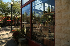 SEPT 10 2015 (byronfairphotography) Tags: reflection outside store streetlamp id boise streetshot