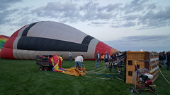 The ground crew getting the balloon lines all sorted out