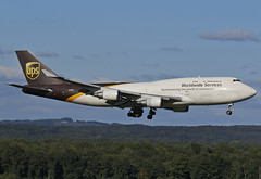 N578UP United Parcel Service (UPS) Boeing 747-45E(BCF) (°TKPhotography°) Tags: canon germany deutschland airport köln ups boeing 747 jumbo eos70d