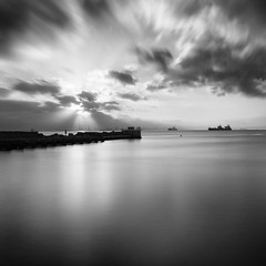 All Is Clear Now... (sebistaen) Tags: longexposure sea sky cloud white black boat flickr wave squareformat sbastien lemercier canoneos7dmarkii sebistaen breakthroughphotography x3neutraldensity10stop