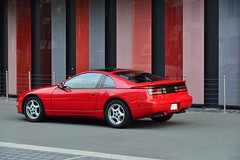 ZX in 2015 (v6rev) Tags: red rot car nissan twin turbo vehicle z 20 rood sportscar v6 swb rossa machina z32 zx300