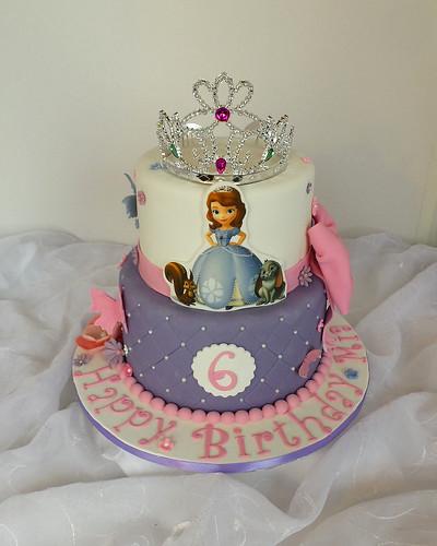 Enjoyable Princess Sofia Birthday Cake A Photo On Flickriver Funny Birthday Cards Online Inifodamsfinfo
