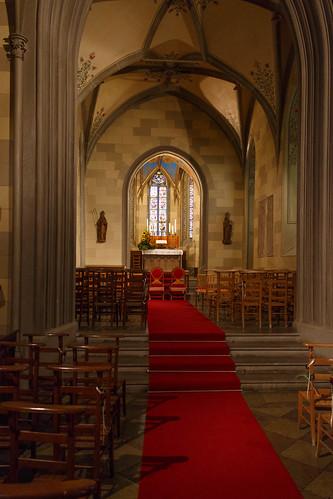 Dans la chapelle catholique Saint Michel du château de Hohenzollern