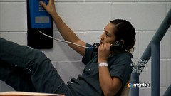 0163 (UJB88) Tags: woman green uniform cell prison jail arrested jumpsuit institution correctional restrained