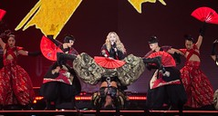Madonna - Rebel Heart Tour (Tony Lowe Photo) Tags: show toronto ontario canada japan magazine photography rebel fan concert downtown tour dancers heart michigan live air madonna centre nation detroit performing cage flame armor warrior warriors samurai