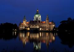 Rathaus Hannover (brunsebaer) Tags: blauestunde rathaushannover