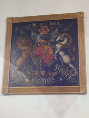 Royal Arms of George III, Heather (Aidan McRae Thomson) Tags: church painting leicestershire heather heraldic royalarms