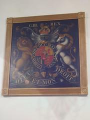 Royal Arms of George III, Heather (Aidan McRae Thomson) Tags: church painting leicestershire heather heraldic royalarms
