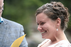 Cracking Up (peterkelly) Tags: wedding woman ontario canada smile smiling digital laughing bride earring northamerica laughter bancroft silentlakeprovincialpark womenexpression