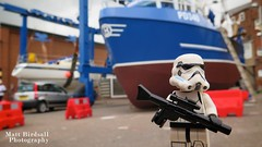 Docking Bay Security (Hellbelly) Tags: stormtrooper starwars lego bridlington iphoto toy canong12 drydock