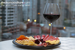 Wine Night (HomoCulture.ca) Tags: vancouver wineandcheese redwine charcuterie dinnerforone winenight meatandcheeseplate charcuterieplatter
