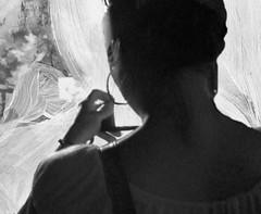 Display (Ekatharina) Tags: film handy foto display fenster spiegel menschen beamer blick acryl personen szene beobachten schwarm wahrnehmung gedanken ebenen anschauen