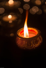 Happy Diwali everyone! 😊Wishing all of you and your loved ones lots of love, happiness, good health & prosperity! 🎆💥⭐️#HappyDiwali #Diwali (Sonika Arora 604) Tags: diwali diwali2016 happydiwali festivaloflights light lights candles candle flame fire colors warm bokeh dark shadows highlights vancouver vancity beautiful prosperity health wealth celebration family love