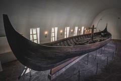 Gokstad Viking Ship (robertdownie) Tags: ocean old travel sea oslo norway lights boat hall oak ship rows rowing viking sandefjord clinker gokstad strakes