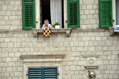 At the window (As minhas andanças) Tags: montenegro kotor