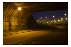 YayWhateversville. (Barnaby Nutt) Tags: street light orange lamp concrete kirby long exposure williams unitedkingdom pollution owen sir sodium muxloe carscapes glenfield