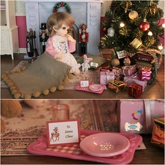 ★ Christmas morning ★ ^_^ <3 (♥ Little Enchanted World ♥) Tags: christmas morning cookies milk delicious gifts presents surprise littlegirl fairyland yosd 16scale littlefeeante santaclauscame