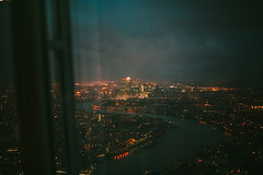 Higher (Just A Stray Cat) Tags: uk england sky reflection london film field thames skyline night clouds analog skyscraper 35mm canon river 50mm lights nikon cityscape dof bokeh britain great s observatory mm manual nikkor 50 35 shard depth ai f12 bokehlicious f12s