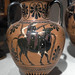 Athenian Black Figure amphora with representation of Europa and the Bull