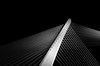 Puente de los tirantes (Angel T.) Tags: bridge bw white black art blanco night puente noche arquitectura negro fine bn minimal galicia pontevedra tirantes