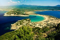 Voidokoilia Beach (free3yourmind) Tags: travel blue sea green beach water bay sand holidays famous greece popular vacations peloponnese gialova voidokoilia βοϊδοκοιλιά