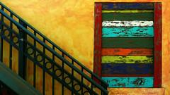 Rainbow Window (aga.koss) Tags: window rainbow colourfull stairs outdoor florida floridatrip
