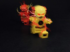 Professor Zoom (MrKjito) Tags: lego minifig reverse flash professor zoom comics dc super villain speed force negative man yellow suit