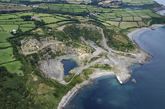 Dean Quarry near St Keverne in Cornwall UK aerial image (John D F) Tags: shireoakquarries deanquarry quarry stkeverne cornwall coast aerial aerialphotography aerialimage aerialphotograph aerialimagesuk aerialview