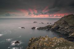 Pleinmont Sunset (scott.hammond34) Tags: landscape seascape sunset pleinmont guernsey channelislands cliffs coastal ocean clouds sky colour vivid autumn rocks waves carlzeiss21mmf28 canon6d outdoor scenic