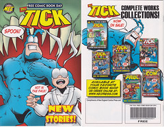 2015 PUBLISHED JUNE 2015 BY NEC. THE TICK FREE COMIC BOOK DAY (vsndesigns) Tags: beta the tick vs arthur sentinel prime optimus successor townsend coleman lego minifig minifigure dcon 2014 ball mylar balloon buttons bonanza pencil indie shocker gbjr toys with tie and tshirt zombie in a steel box fox promotional totally kids magazine 45 club spoon taco bell meal commercial eli stone ben edlund little wooden boy comic book merchandise rare limited edition 80s 90s collector museum naked super hero heroine collection photo screen