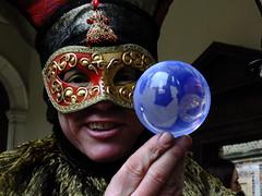 Peering Through the Crystal Ball (failing_angel) Tags: 020116 london richmonduponthames hamptoncourt elizabethanchristmas clockcourt colonnade juggler contactjuggler christmas twelfthnight