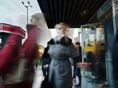 Blurred Motion Standing Side View Full Length Railroad Station Holding Front View Subway Station Casual Clothing Subway Platform Large (ph4mt) Tags: blurredmotion standing sideview fulllength railroadstation holding frontview subwaystation casualclothing subwayplatform large