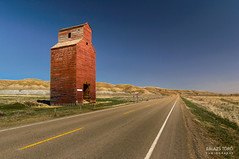 Grain Elevator (RGB) (torobala) Tags: alberta canada prairie nikon d3200 urbex abandoned dorothy elevator landscape road