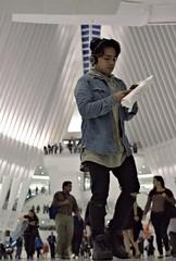 To PATH, Rush Hour, Oct. 7 2016 (sjnnyny) Tags: rushhour commuters oculus calatraveny worldtradecenter sonya6000 sigma60mmf28dn nyc street interior personfulllength stevenj sjnnyny mirrorlessapsc cellphone afaceinthecrowd urban nylife tonewjerseythisway environmentalportrait