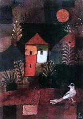 IMG_8268GAB Hans Reichel. 1892-1958.  L'oiseau devant la maison hante.  The bird in front of the haunted house. 1925.   Colmar. Unterlinden. (jean louis mazieres) Tags: painting peintres peintures muse museum museo france colmar musecolmar museunterlinden hansreichel