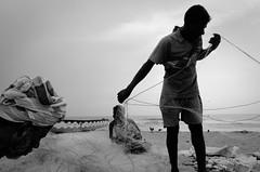 Marina Beach, Chennai, 2016 (bmahesh) Tags: marinabeach chennai tamilnadu india people fishermen beach life ricohgr wwwmaheshbcom
