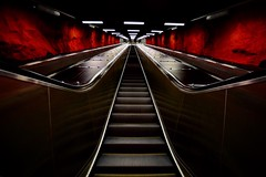 Down under. (tommipaulzonnew) Tags: street underground stockholm subway
