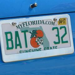 BAT 32 (Bob Kolton Photography) Tags: automotive autos automobiles antique bobkoltonphotography biloxi cars car classic classiccars canong1x cruisinthecoast hdr hotcars licenseplates plates tags