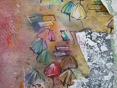 Graff in Porto (brigraff) Tags: streetart collage papiercoll pastedpaper pasteup wheatpast porto portugal brigraff matosinhos plage playa parasol