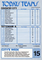 Coventry City vs Tottenham Hotspur - 1979 - Page 3 (The Sky Strikers) Tags: coventry city tottenham hotspur spurs hotspurs football league division one sky blue highfield road official matchday magazine 20p