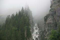 Up the Lauterbrunnen Valley (AGrinberg) Tags: switzerland 0441216 lauterbrunnen waterfall fog