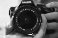 Nikon (Natacha Badolati) Tags: blancoynegro blackandwhite cmara nikon espejo lente
