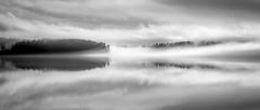 velvety mono dream (PixPep) Tags: kyrkviken arvika sweden sverige monochrome blackandwhite lake värmland reflections sky trees seascape lakescape