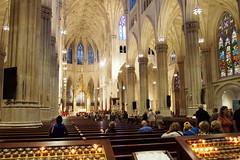 Interior of St. Patrick's Cathedral (debreczeniemoke) Tags: usa unitedstates amerikaiegyesltllamok newyork cityofnewyork newyorkcity thecity stateofnewyork templom church rmaikatolikus romancatholic hecathedralofstpatrick stpatrickscathedral manhattan neogothic templombels interior olympusem5