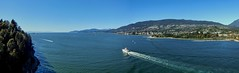 To the Sea - Panorama - Vancouver, BC (Andr-DD) Tags: canada kanada vancouver bc britishcolumbia urlaub vacation stadt city wasser water meer ocean ozean boat boot schiff ship ships schiffe stanleypark lionsgatebridge panorama outside outdoors westvancouver